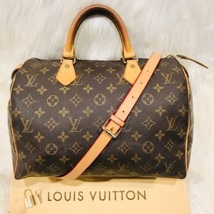 Authentic Louis Vuitton Speedy 30 #4.6T